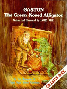 gaston the green nosed alligator coloring book flat town music company