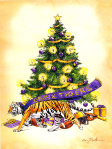 db42e8510d LSU Christmas Ornaments Christmas Cards - Flat Town Music Company