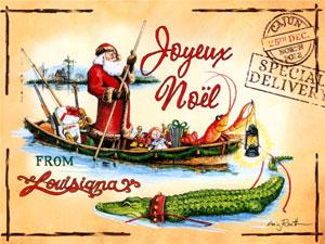Cajun Christmas.Papa Noel Cajun Christmas Christmas Cards